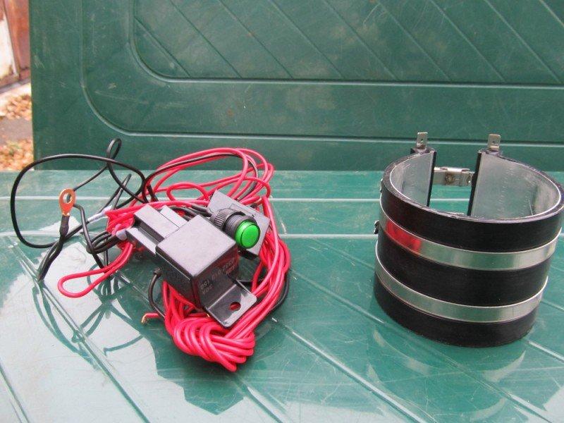 Установка бандажного подогревателя топливного фильтра своими руками