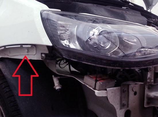 Как демонтировать переднее крыло Lada Granta