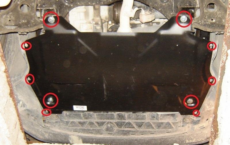 Установка защиты картера двигателя Фольксваген Поло