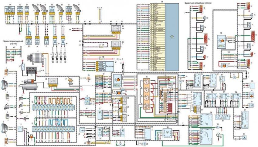 Описание проводки с электросхемой автомобилей УАЗ Хантер, 31512, 31514, 31519