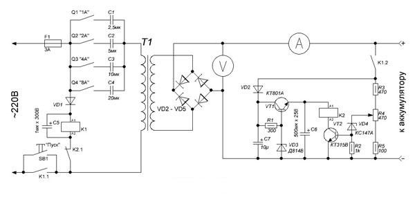 Инструкция и схема простого зарядного устройства для автомобильного аккумулятора своими руками