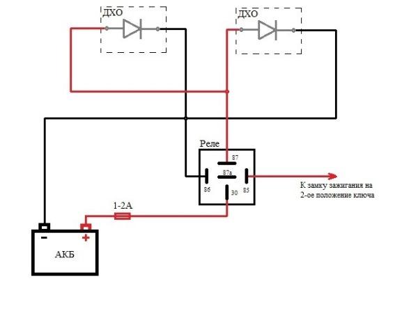 Как сделать ДХО в штатные фары своими руками, схема создания дневных ходовых огней из дальнего света