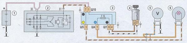 Устройство и схема подключения генератора ВАЗ 2107 инжектор и карбюратор: технические характеристики
