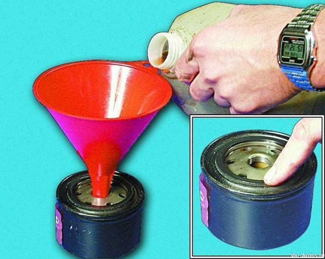Замена масляного фильтра и масла в двигателе ВАЗ 2112