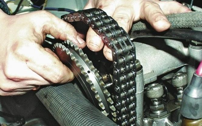 Ремонт цепного привода ГРМ на ВАЗ 2101